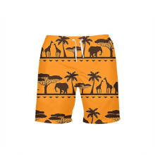 VEEVAN Men Board Shorts Cute Cartoon Animal Elephant 3D Printing Beach Shorts