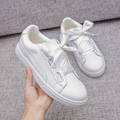 Women Flats White Shoe Plus Size 35-41 Fashion Casual Lace up Soft Loafers Spring Autumn Moccasins Female Driving Shoes