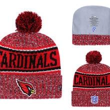 b5e356e43 Football Team Beanie Hat National Football League beanies cuffed pompom  beanie cap Rugby Knit Winter hat