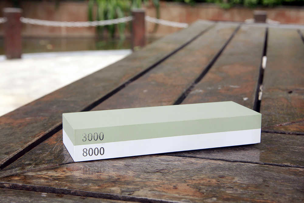 600/1500 و 3000/8000 # المهنة المطبخ المشحذ شحذ الأحجار للسكين مزدوجة الجانب مبراة سكين نظام 2 قطعة