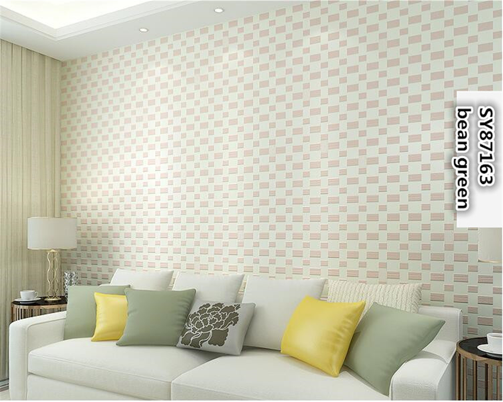 beibehang Modern fashion simple non woven wallpaper bedroom living room TV papel de parede 3d wallpaper square wall paper tapety in Wallpapers from Home Improvement