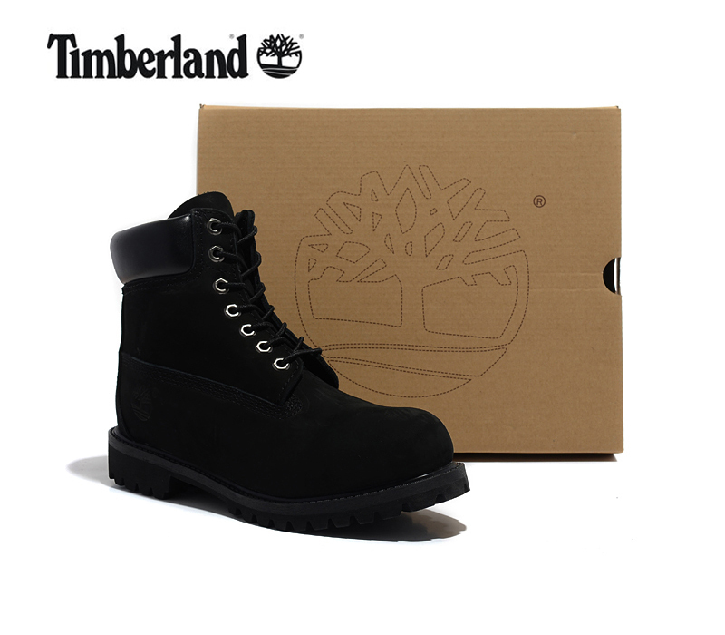 TIMBERLAND Classic Men 10061 Whole Black Premium Ankle Boots,Men Genuine Leather Outdoor Wearable Anti-Slip Durable Walk Shoes