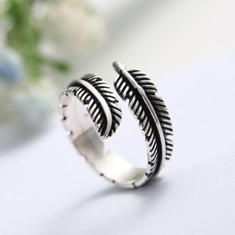 Original Da Pena Retro 925 Sterling Silver Temperamento Personalidade Moda Feminina moda Redimensionáveis Anéis Abertura SRI007