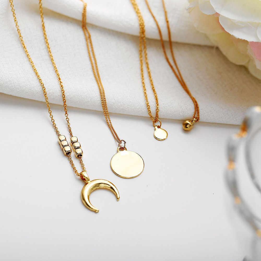 Mode femmes collier cristal multi-couche collier ras du cou pendentif chaîne collier bijoux ornements impeccables Pendientes couple
