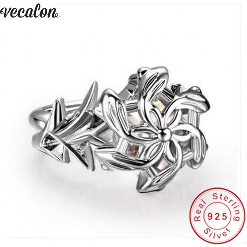 Vecalon Vintage Herr Der Ringe Die Galadriel Nenya Ring Soild 925