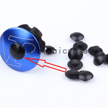 MUQZI 5 or 10 Pcs Headset Cover Screw Cap Fixed Gear Road Bike Folding M6 bowl Set Cover Screw Cap Bicycle Equipment Accessories bicycle fork washer 28 6mm bicycle bowl set the bike front mtb road bike fixed gear track bike headsets accessories equipment
