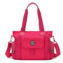 JINQIAOER Femmes sac à main vintage voyage bolsas femininas dames lumière étanche solide nylon singe bandoulière épaule sacs