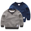 The boy in the Striped Sweater 2017 spring spring new children coat baby turtleneck jacket U4072