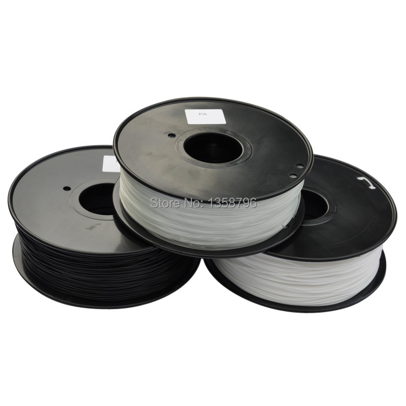 3d printer filament PA(Nylon) 1.75mm/3mm 1kg/2.2lb plastic Rubber Consumables Material MakerBot/RepRap/UP/Mendel 3d printer parts filament for makerbot reprap up mendel 1 rolls filament pla 1 75mm 1kg consumables material for anet 3d printer