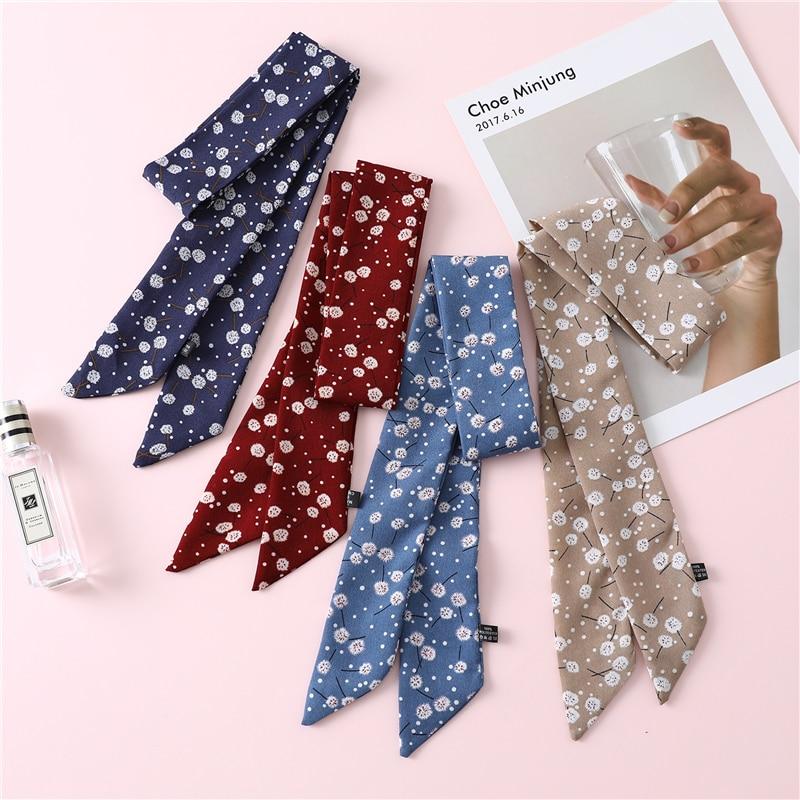 Luxury Brand Designer Small Silk Scarf Women  Bag Skinny Scarves Narrow Long Decorate Belt Head Band Fashion Necktie 2020 New