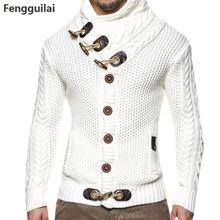 Fengguilai Autumn Winter Casual Cardigan Loose Fit 100 %Terylene Warm Knitting
