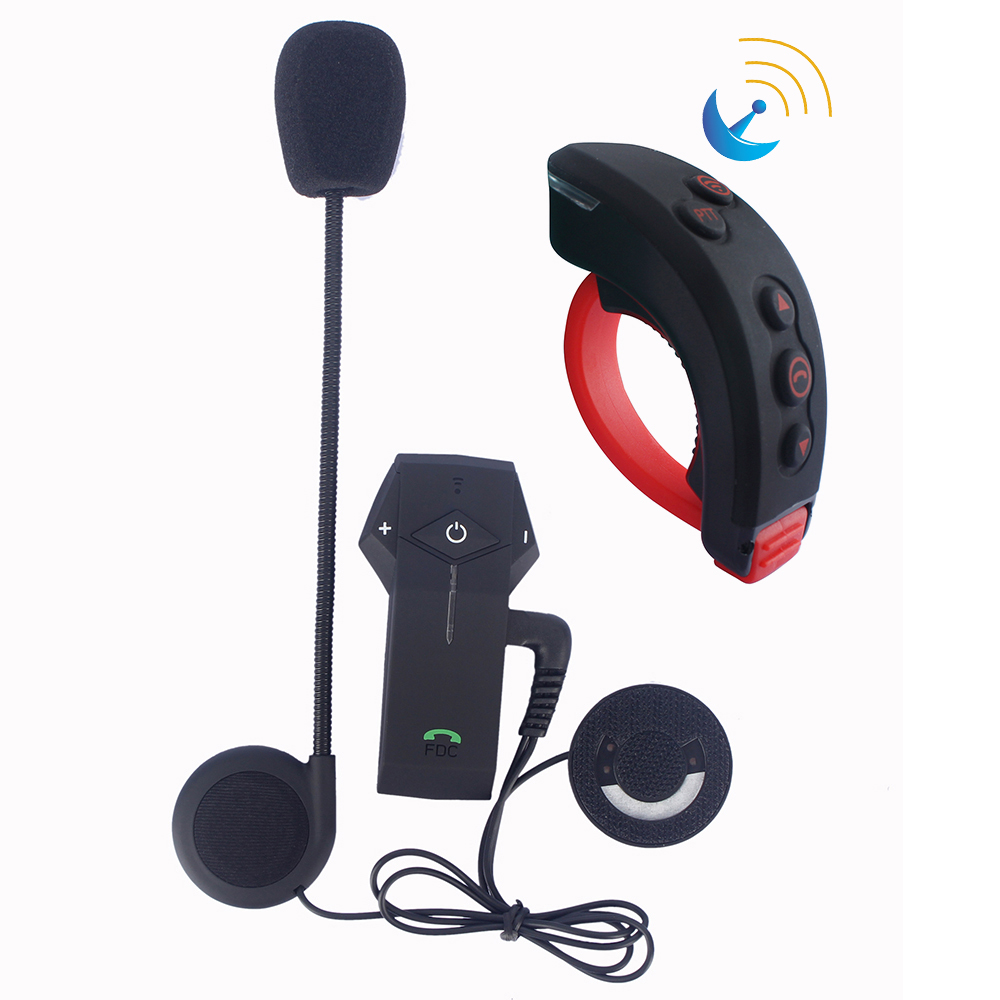 2017 Newest Remote Control+Motorcycle Helmet Intercom Wireless Bluetooth Headset BT Interphone+FM Radio NFC Function 2pcs bt s2 intercom 1000m motorcycle helmet bluetooth wireless waterproof headset intercom earphone 2 riders interphone fm radio