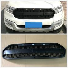 OWN DESIGN MODIFIED HIGH QUALITY FRONT RACING GRILLS GRILLE MESH BUMPER MASK COVER FIT FOR EVEREST ENDEAVOUR 2015-2018 CAR EXTER hr grille front racing raptor grills cover fit for ford everest endeavour 2015 2017