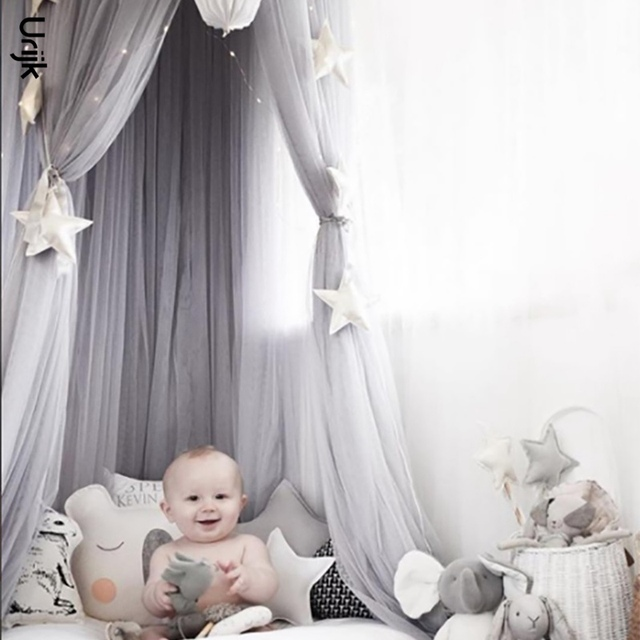 Urijk 1PC Nordic INS Round Mosquito Net Kids Room Decoration Circular Canopy Bed Boys Girls Valance  sc 1 st  AliExpress.com & Urijk 1PC Nordic INS Round Mosquito Net Kids Room Decoration ...