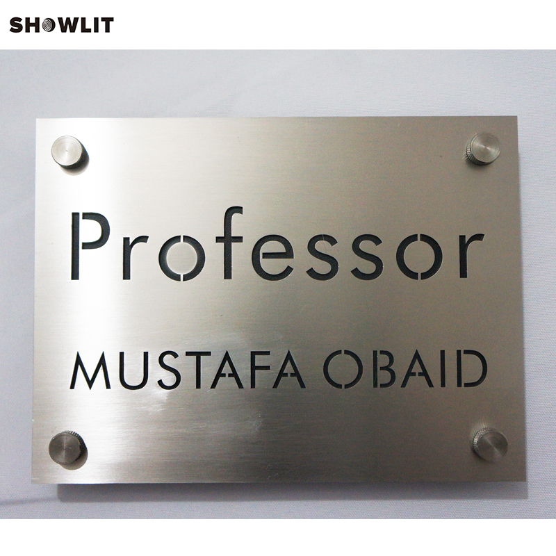 Double Layers Modern Engraved Office Signs