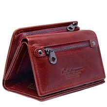 Купить с кэшбэком 2018 New Fashion Women Wallets Genuine Leather Zipper Money Bag Ladies's Long Design Purse Two Fold More Color Clutch