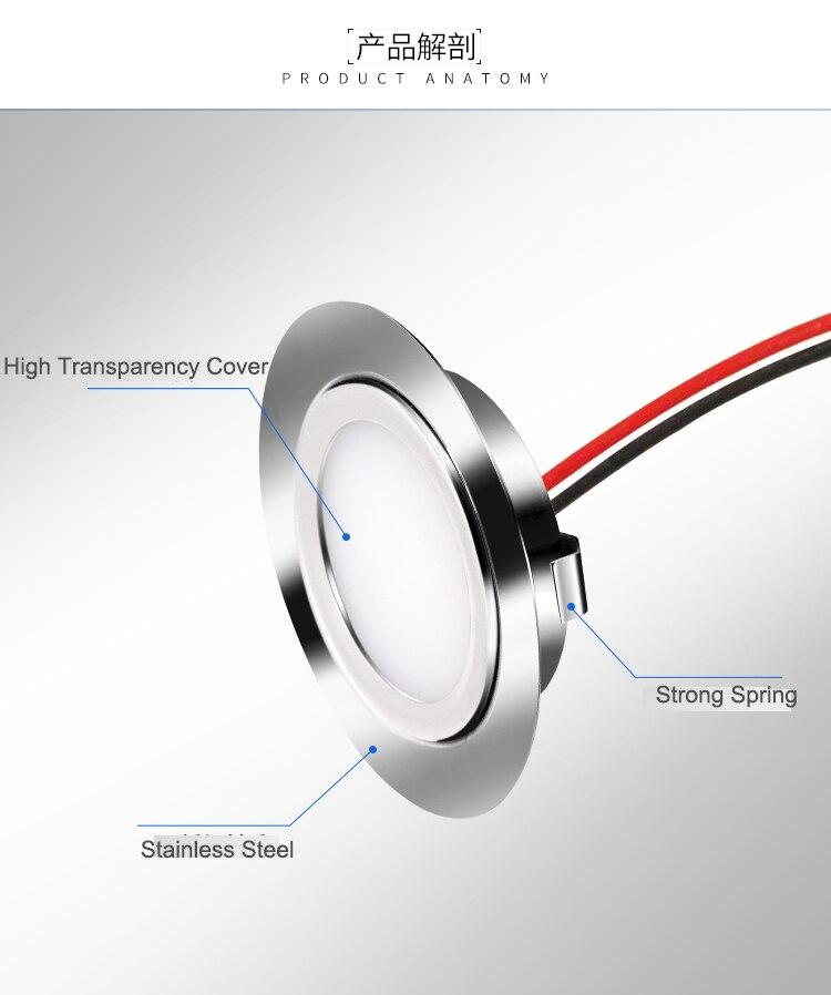 Projecteur de LED de cc de 3 pouces IP65 1W 1.5W 2W 3W 12V pour la lumière mince de la CE RoHS 14mm d'éclairage de tache de plafond de maison
