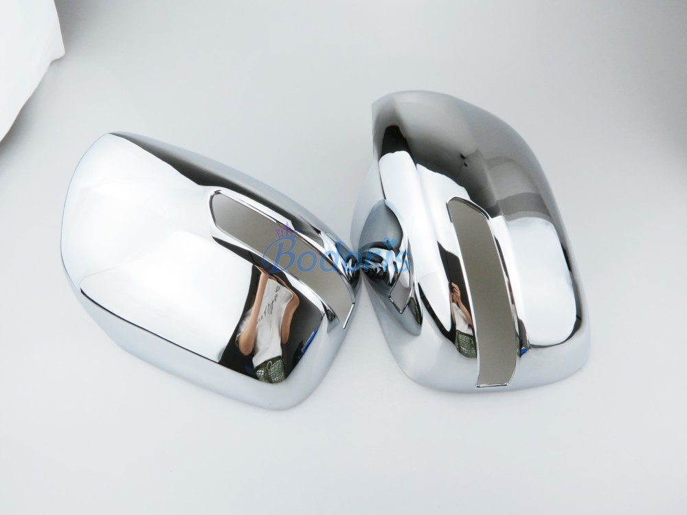 2008 2011 Door Mirror Cover Overlay Rearview Trims ABS Chrome Detector Car Styling For Toyota LC