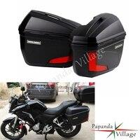 2X Универсальный мотоцикл 20L светодиодный боковые Чехлы панниры боковой хвост верхняя коробка багаж ГРУЗОВОЙ ЯЩИК ДЛЯ BMW Honda Yamaha Suzuki