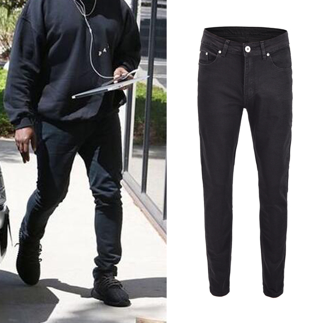 Best Black Skinny Jeans Men 2018 Vintage Stretch Denim Jeans Man