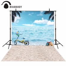 Allenjoy fotografia pano de fundo Verão oceano azul do feriado da praia das crianças novo fundo photocall personalizar foto impressa