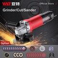 Yat 950 w angle grinder m10 máquina de moer elétrica para madeira corte metal polimento serra lixadeira