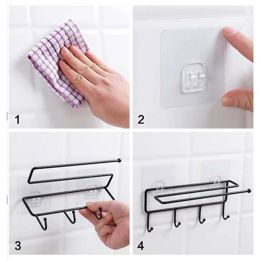 Bathroom Hardware Home Improvement 2019 New Paper Towel Holder Adhesive Paper Towel Holder Under Cabinet For Kitchen Bathroom #nn0220