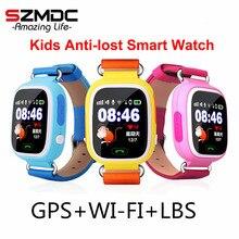 GPS Q90 WI-FI позиционирования детская умный ребенок часы SOS вызова расположение трекер детские безопасные анти потерял Мониторы Smart Watch