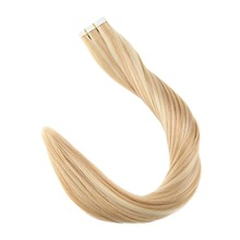 Full Shine Tape in Human Hair Piano Color #24 and #27 Blonde 100% Remy Skin Weft Glue on 20Pcs 50g Adhesive