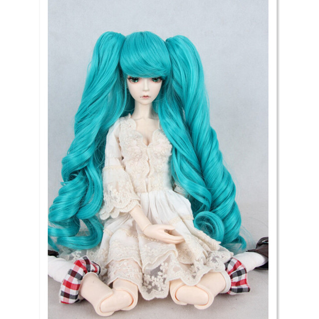 Attractive Design  1/4 BJD Doll Wig Accessories for Dolls,New Style High-temperature Wire Wavy Hair Doll Hair