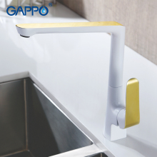 GAPPO Golden kitchen faucet water mixer tap torneira white kitchen sink faucet Brass water faucet tap 360 rotate kitchen taps gappo kitchen faucet water mixer taps brass kitchen mixer antique faucet kitchen sink mixer cold hot water mixer 1set g4063 4