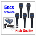 5pcs wholesale High Quality Beta 87A Clear Sound Handheld Wired Karaoke Microphone