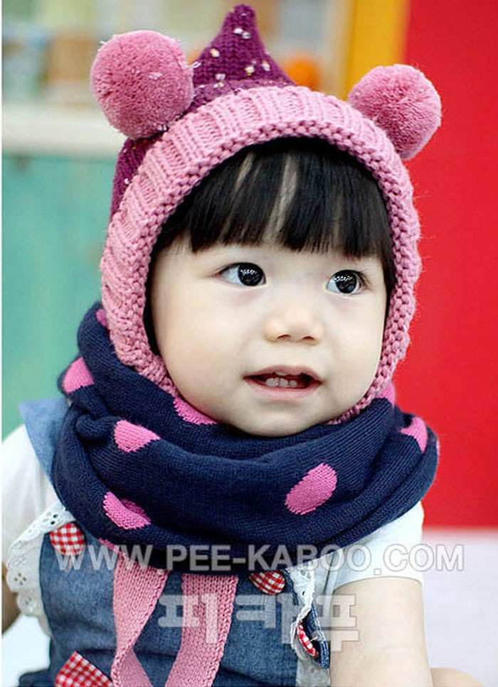 Winter Baby Clothing Warm Wool Dot Scarf 2015 Korean Children