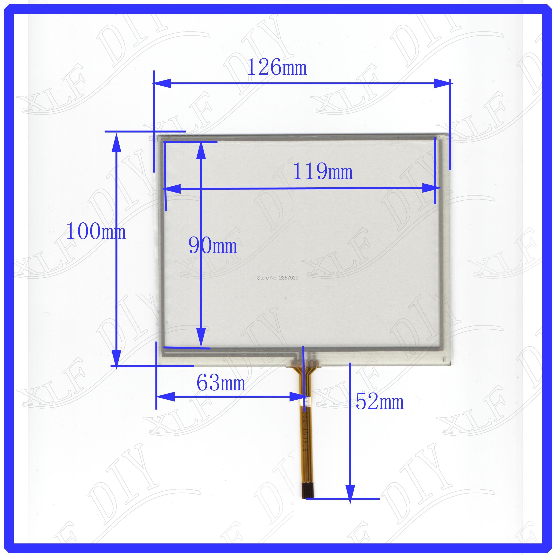 Bilgisayar ve Ofis'ten Tablet LCD'ler ve Paneller'de KDT 6321 126*100 5.6 inç 4 lümen direnci dokunmatik ekran cam touchsensor digitizer cam 126mm * 100mm endüstriyel kontrol title=