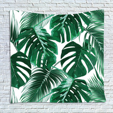 wholesale tapestry Tropical plants Canna Musa fern leaves Wall hanging Mural Beach towel decoration polyester blanket