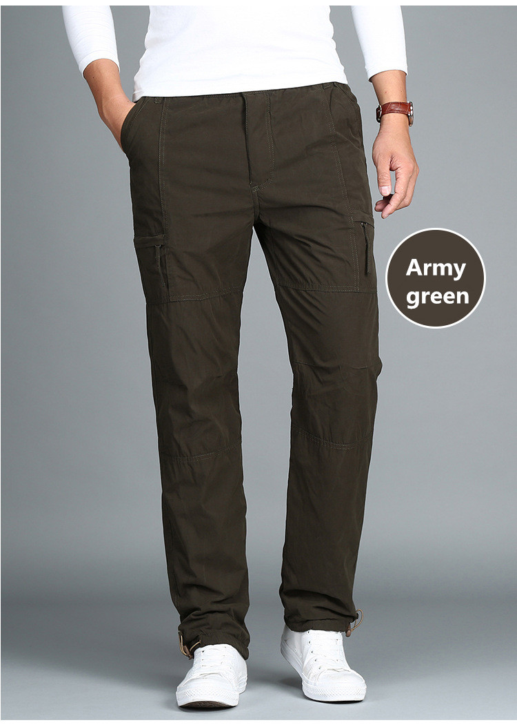 HTB1CoPigDdYBeNkSmLyq6xfnVXaI - Men's Fleece Cargo Pants Winter Thick Warm Pants Full Length Multi Pocket Casual Military Baggy Tactical Trousers Plus size 3XL