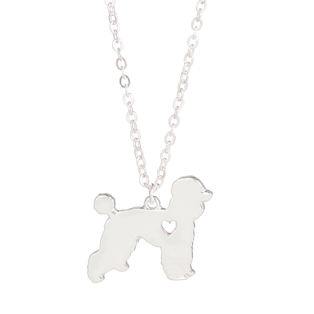 Hot Sale 10pcs Fashionable Poodle Necklace Custom Dog Necklace Dog Pendant Pet Jewelry Pets New Puppy Groomer Gifts Dog lovers