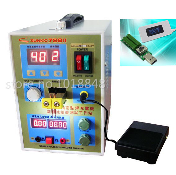 220v /110V New upgrade LED lighting 788H double pulse precision 18650 Spot Welder Battery Welder, 788h+ Tester+gift sunkko 737g battery spot welder 1 5kw led light spot welding machine for 18650 battery pack welding precision pulse spot welders