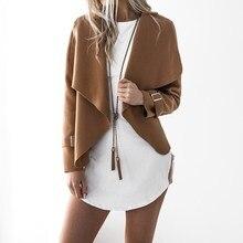 hot deal buy women autumn cardigan jacket women long sleeve outerwear coats 2017 turn-down collar winter casual open stitch women coats