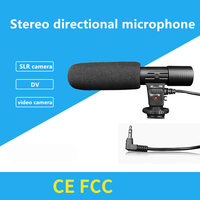 Condenser Microphone Interview Video Recording Mic for Nikon Canon DSLR Camera Computer Mic Filmmaking,3.5MM Microphone Jack