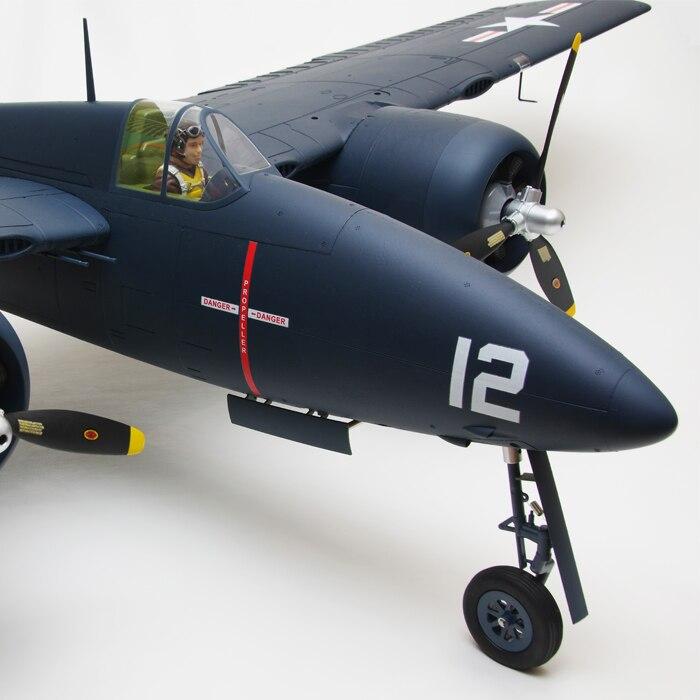 Propeller 3Blatt linksdrehend 12x7 Freewing Flightline P-38L F7F-3 Tigercat