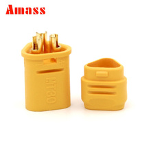 1pair Amass MT30 2mm 3-pin Connector / Motor connector / Male Female Bullet Connectors Plugs For RC Lipo Battery