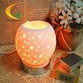 Genuine tercera velocidad táctil lámpara de cristal de sal Del Himalaya lámpara de la mesita de luz nocturna lámpara de Ojos mineral natural