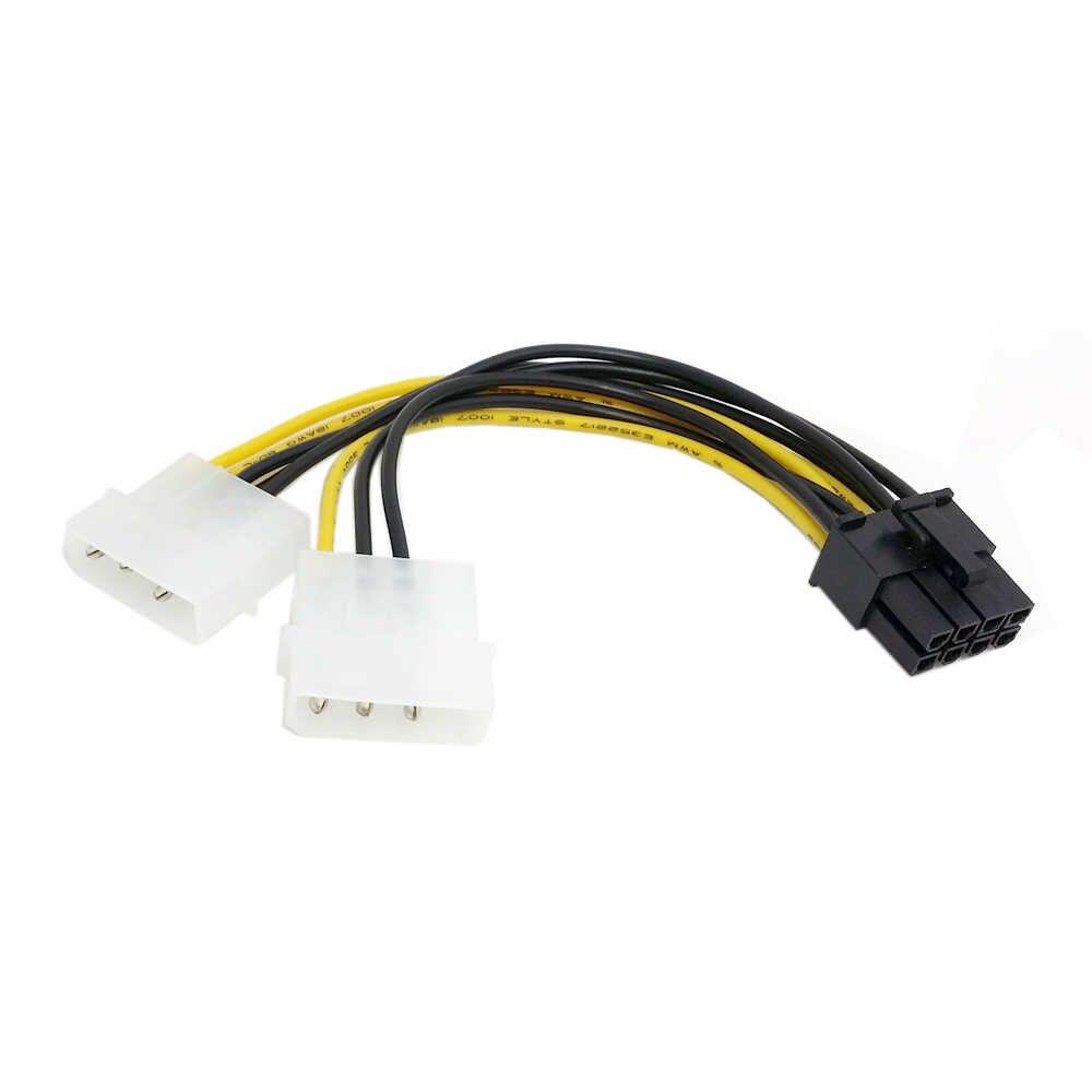 5 قطعة/1 قطعة المزدوج موليكس 4pin IDE إلى 8 دبوس PCI-E سلك توصيل للطاقة كابلات لابتوب اسيوس MSI VGA فيديو بطاقة الجرافيك