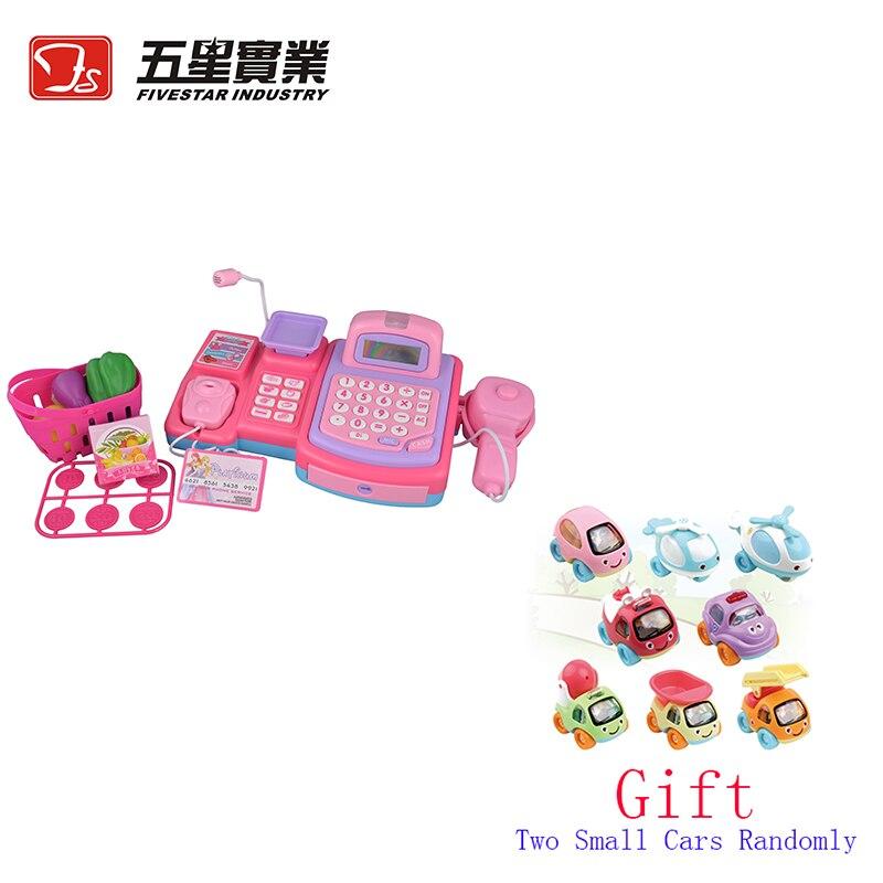 FS TOYS 1 SET 35502 Kids Plastic Cash Register Toy cash register for children mini shopping cart toys for children cash machine