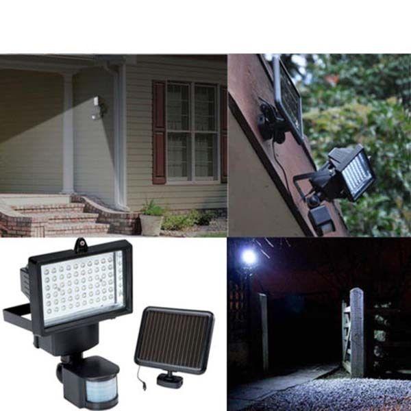 60 LED Solar Powered Outdoor Garden Motion Sensor Security Flood Light Spot Lamp Solar Floodlights Spotlights Solar Lamp bulbs  цены