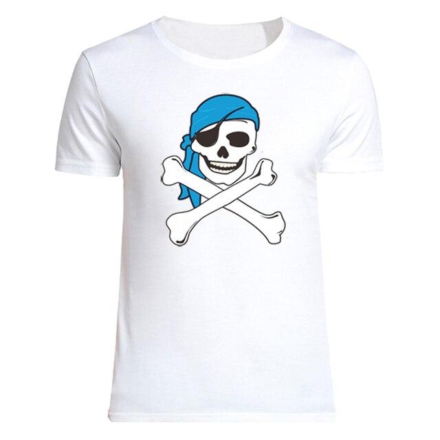 T Shirt Men Skulls Pirate Printed 2016 Summer Casual T Shirt