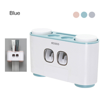 Toothbrush Holder 5 Racks Dust proof with Cups Toothpaste Squeezer Dispenser Automatic Wall Stand Shelf Bathroom accessories