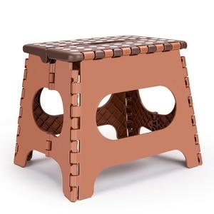 Image 1 - Tabouret pliant léger denfants ou dadultes chaise pliante portative sûre en plastique avec des poignées tabouret anti dérapant de salle de bains