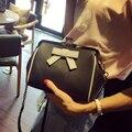 Бесплатная доставка, 2017 новая мода сумки, shell сумка, простой Корейской версии женщины сумку, тенденция бантом лоскут.